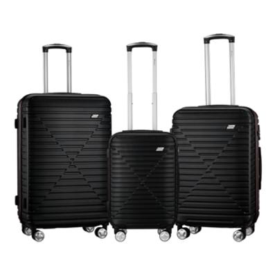 Travelwize Chevron Series ABS 3Pc Luggage Set